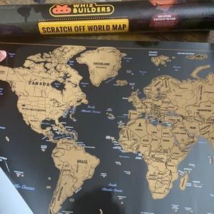 Whiz builders scratch off world map